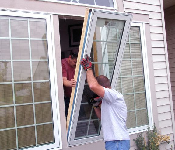expert window specialist installing customers windows near Gibbsboro NJ