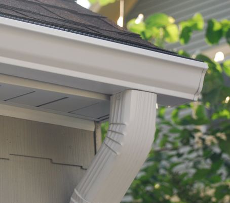 professional gutter company installing gutter system in Norristown Pennsylvania