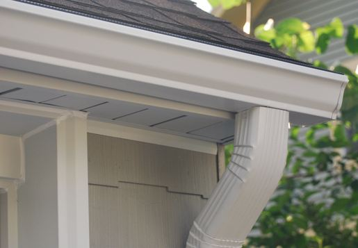 licensed gutter specialist replacing customers gutters in Mont Clare Pennsylvania